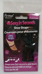 Personal-Touch-Sexy-In-Seconds-Shoe-Straps-Black-2-Straps-New-In-Package