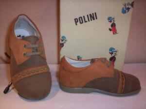 Scarpe-scarpine-Polini-neonato-bimbo-shoe-casual-primi-passi-pelle-marroni-20-21