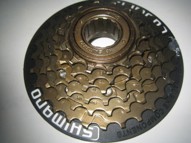 6 Speed shimano cycle / bike block freewheel screw on with spoke protector