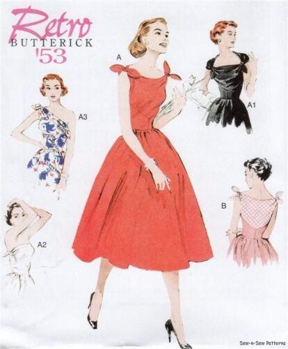 Butterick B5708 SEWING PATTERN 6-14 Wo-men Retro Vintage Sun Dress Mad 50s EASY