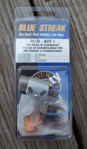 Tune Up Kit Blue Streak Points Condenser for Harley Big Twin XL 1970-Later