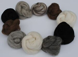 Heidifeathers-039-Animal-Mix-039-10-Varieties-of-Natural-Wool-100g-Felting-amp-Spinning