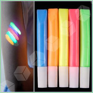 Fluorescent-UV-glow-Reactive-Neon-Face-Body-Paint-Painting-5-color-Set