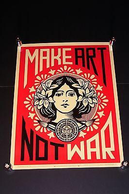 SHEPARD FAIREY Make Art Not War Peace Girl OBEY GIANT