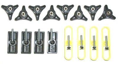 T-Slot T-track Jig Kit for Fences and Miter Gauge includes 8 Knobs & Hardware