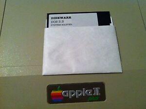 Apple-Computer-II-II-Plus-IIe-DOS-3-3-Vintage-Master-Disk-Software-Disk