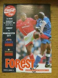 01121993 Nottingham Forest v Manchester City Football League Cup Light Crea - Birmingham, United Kingdom - 01121993 Nottingham Forest v Manchester City Football League Cup Light Crea - Birmingham, United Kingdom