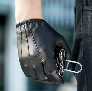 Mans-short-three-lines-lace-up-real-leather-gloves-very-large-version-gloves