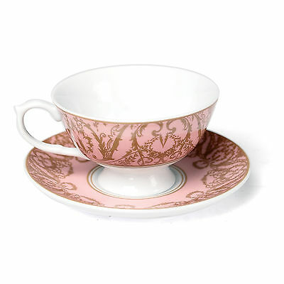 dotcomgiftshop PINK REGENCY STYLE TEACUP AND SAUCER