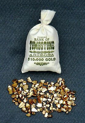 """1:6 scale """"BANK OF TOMBSTONE"""" bag of gold nuggets"""