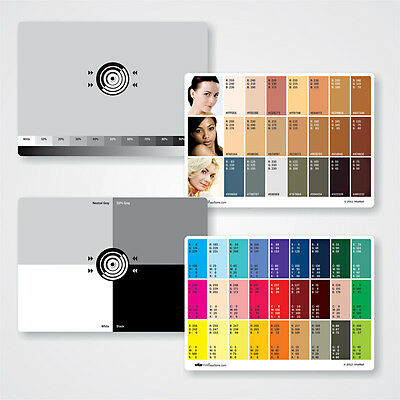 """Set of two Large Neutral Digital Gray Cards (for white balance). Size 4.25"""" x 6"""""""