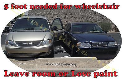 Handicap parking sticker,Wheelchair sticker van parking, wheelchair sticker