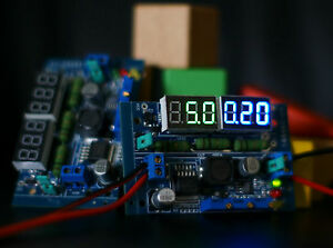 LED-Voltage-and-current-display-LM2596-DC-DC-Step-Down-CC-CV-Adjust-Power-Supply