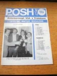 04011975 Peterborough United v Tranmere Rovers FA Cup Slight Fold Team Cha - <span itemprop=availableAtOrFrom>Birmingham, United Kingdom</span> - Returns accepted within 30 days after the item is delivered, if goods not as described. Buyer assumes responibilty for return proof of postage and costs. Most purchases from business s - Birmingham, United Kingdom
