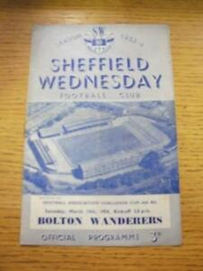 13031954 Sheffield Wednesday v Bolton Wanderers FA Cup Folded Some Marking - <span itemprop=availableAtOrFrom>Birmingham, United Kingdom</span> - Returns accepted within 30 days after the item is delivered, if goods not as described. Buyer assumes responibilty for return proof of postage and costs. Most purchases from business s - Birmingham, United Kingdom