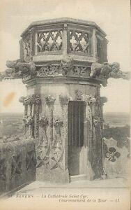 58-cpa-NEVERS-La-cathedrale-Saint-Cyr-Couronnement-de-la-Tour