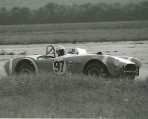 Vintage-8X10-SCCA-1965-Courtland-AL-Bob-Thorpe-Cobra-Auto-Racing-Photo