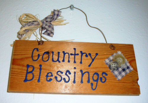 WOOD SIGNS /& PLAQUES~Handcrafted~Ristic /& Country~Colors /& Designs Vary~NEW