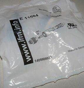 NEW-IFM-ELECTRONIC-EFECTOR-E11504-ECOMAT-400-CABLE-PLUG-M12-CONNECTOR-4-PIN