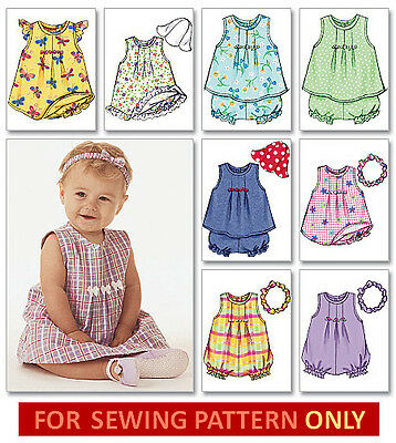 SEWING PATTERN! MAKES SUN DRESS~TOP~ROMPER~HAT~HEADBAND~PANTIES! BABY~TODDLER