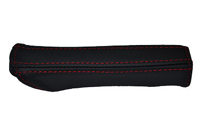 red stitch FITS AUDI A4 B5 1995-1999 LEATHER HANDBRAKE HANDLE COVER ONLY