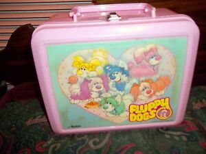 Pink Plastic Aladdin Vintage 1986 Walt Disney Fluffy Dogs Lunchbox (No Thermos)