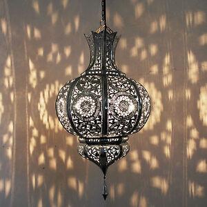 orientalische lampe marokkanische laterne h ngelampe yamina silber handarbeit ebay. Black Bedroom Furniture Sets. Home Design Ideas