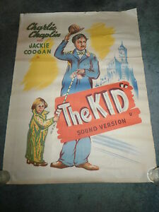 THE-KID-R-30-039-S-CHARLIE-CHAPLIN-JACKIE-COOGAN-ORIGINAL-ONE-SHEET-POSTER-INDIA