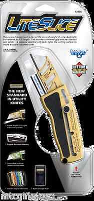 LiteSlice with LED Box Cutter Utility Razor Knife Assorted Colors # 13491