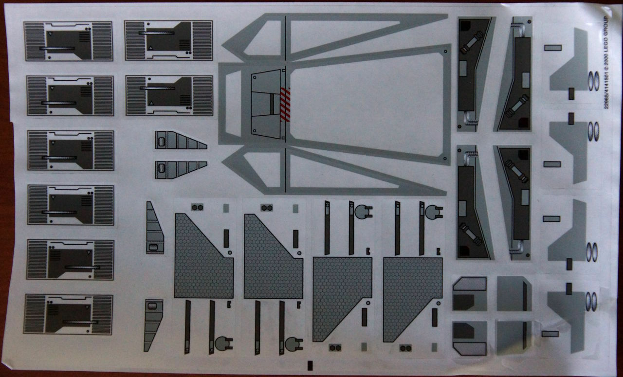 Nuevo orden Lego Star Wars 7191  Ultimate UCS X-Wing pegatina hoja de calcomanías