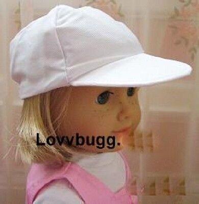 "WHITE Baseball Hat Cap for 18"" American Girl & Baby Doll Lovvbugg Knows Fun!"