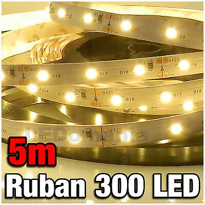 P802/5# Ruban LED Blanc Chaud 5 mètres 300LED 3528 - warm white LED strip