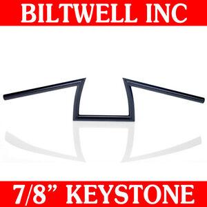 Biltwell-Inc-Black-7-8-034-Keystone-Handlebars-Z-Bars-Bobber-Triumph-Custom