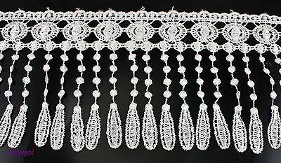 15 yards Beautiful Flower White Venise Lace Fringe Applique Lace Sewing Trims