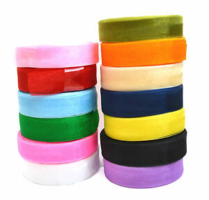 22-MTRS-Of-Sheer-Organza-Ribbon-20mm-width-Various-Colours