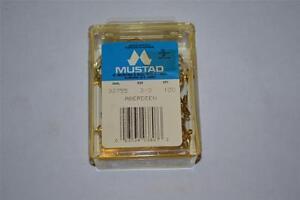 100-Mustad-Aberdeen-90-Degree-Oro-Pesci-Jig-Dimensione-Del-Gancio-3-0-32755