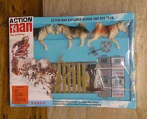 Vintage-Action-Man-40th-cardada-Caja-Explorer-trineo-y-equipo-de-Perro-escala-1-6