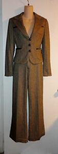 Vintage-BANANA-REPUBLIC-Brown-Tweed-Blazer-Jacket-amp-Martin-Pants-Suit-Size-4-4S