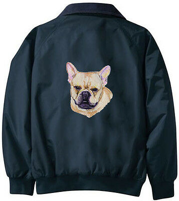 FRENCH BULLDOG embroiderd Challenger jacket ANY COLOR B