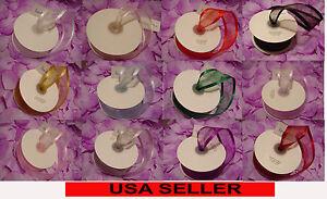 "1-1/2"" X 75ft Satin Edge Organza Ribbon Wedding Craft Shower Gift (1.5"" x 25yd)"