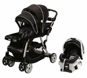 Graco-Ready2Grow-LX-Baby-Stoller-amp-SnugRide-Car-Seat-Travel-System-Metropolis