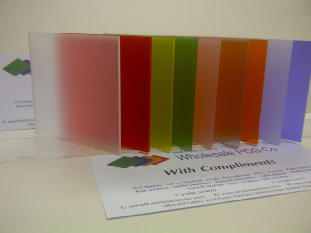 3MM PERSPEX FROSTED ACRYLIC COLOUR SHEETS PICK A COLOUR IDEAL CRAFT MATERIAL