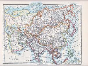1912 map asia arabia india malaysia siberia mongolia japan korea image is loading 1912 map asia arabia india malaysia siberia mongolia gumiabroncs Images