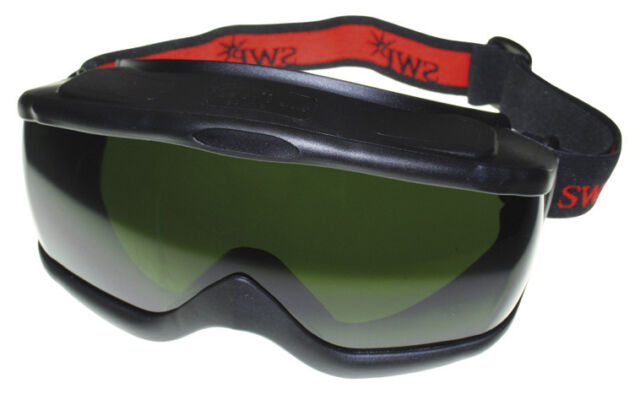 Ski Style Wide Vision Safety Goggles - Anti Mist / Scratch shade 5