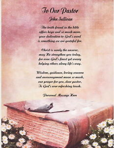Pastor Personalized Poem Gift | eBay