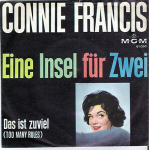Connie Francis - Eine Insel für zwei / Das ist zuviel / 60er Jahre - <span itemprop=availableAtOrFrom>Moers, Deutschland</span> - Connie Francis - Eine Insel für zwei / Das ist zuviel / 60er Jahre - Moers, Deutschland