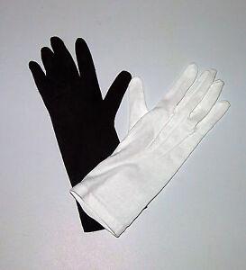 Cotton-Gloves-Unisex-Long-Wrist-Civil-War-Military-Band