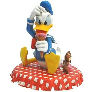 DISNEY-Park-Donald-Duck-Chip-n-Dale-Ice-Cream-Picnic-Big-Figure-Statue-Bust-19-034