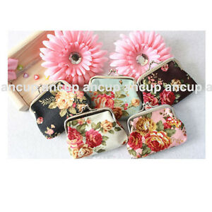 Fashion-Lady-Women-Girl-Small-Coin-Purses-Wallet-flower-cloth-Bag-New-Gift-AAA