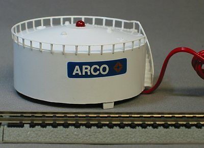 BACHMANN N SCALE BLINKING LIGHT OIL TANK STRUCTURE train lighted ARCO 46712